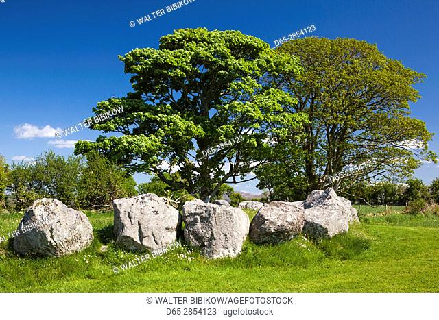 Ireland, County Sligo, Sligo, Carrowmore Megalithic Cemetery, one of the largest Stone Age cemeteries in Europe