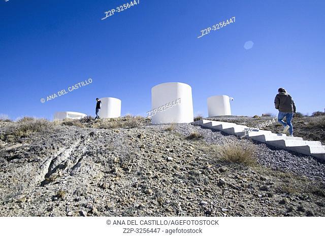 ARCOS DE LAS SALINAS SPAIN : The astronomical observatory of Galactica, Teruel province, Aragon, Spain