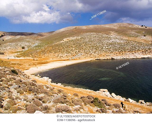 europe, greece, sporades, island of skyros, renes bay