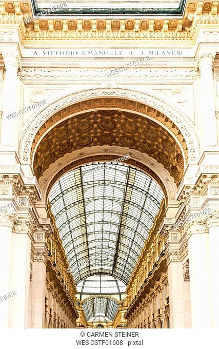 Italy, Milan, Galleria Vittorio Emanuele II