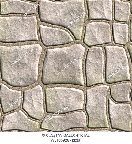 Seamless tileable stonewall background