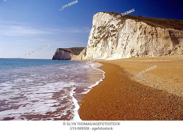 Beach at Bat's Head, Dorset, England, UK