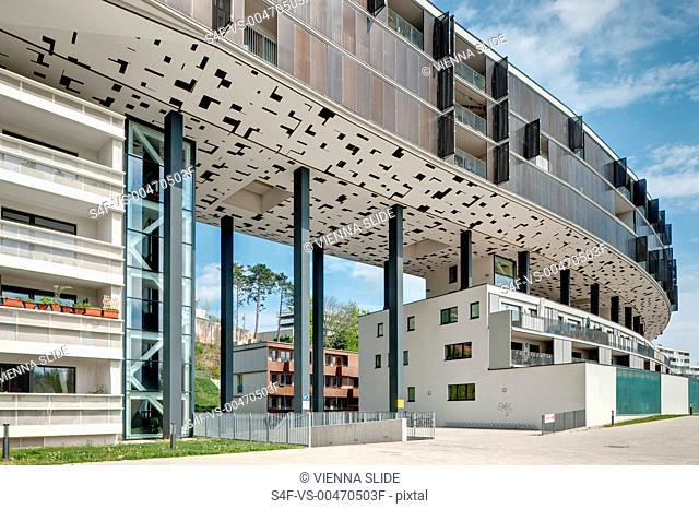 Österreich, Wien, Liesing, moderne Wohnhausanlage Riverside