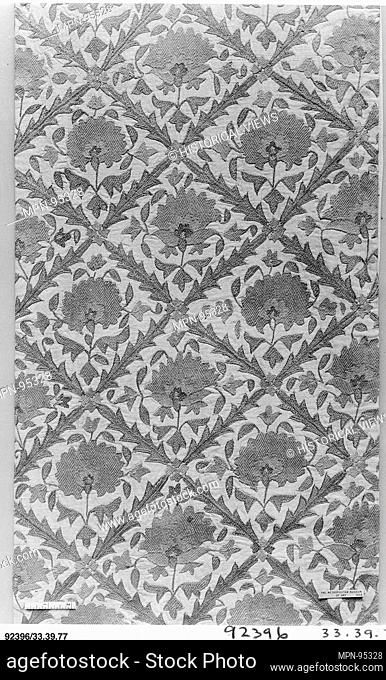 Fragment. Date: 18th century; Geography: Attributed to present-day Uzbekistan, Bukhara; Medium: Linen; embroidered in silk; Dimensions: 72 in. high 16