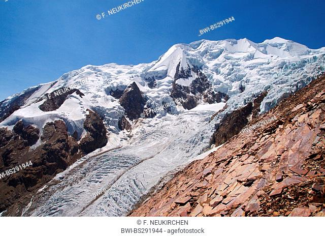 glacier of Illimani, Bolivia, Andes, Cordillera Real