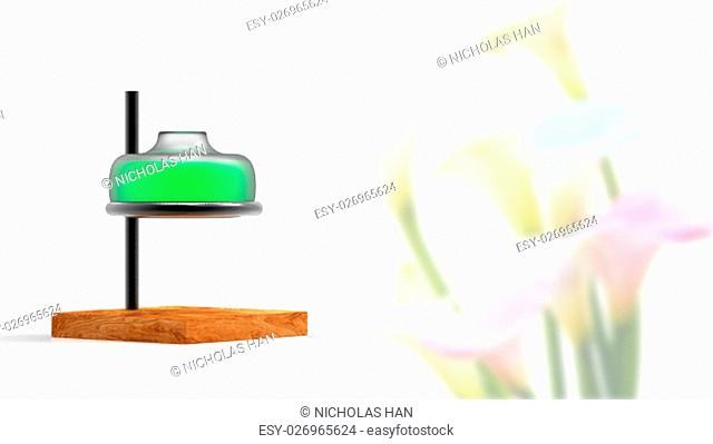 The 3d rendering essential oil from flower to the bottle. Essence liquid cosmetic