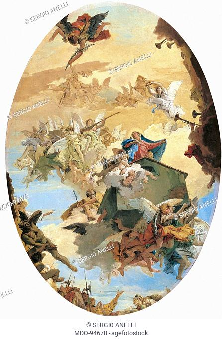 The Translation of the Holy House of Loreto, by Giambattista Tiepolo, 1743 about, 18th Century, oil on canvas, cm 124 x 85