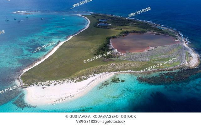 Aerial View, sarky Archipelago Caribbean Los Roques,