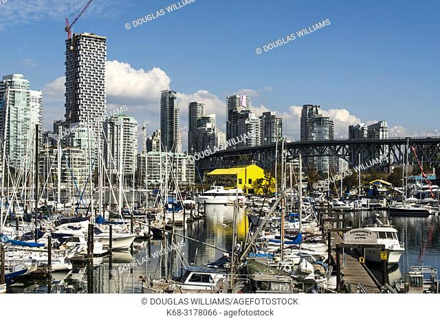 False Creek, dominated by the tower Vancouver House, Vancouver, BC, Canada