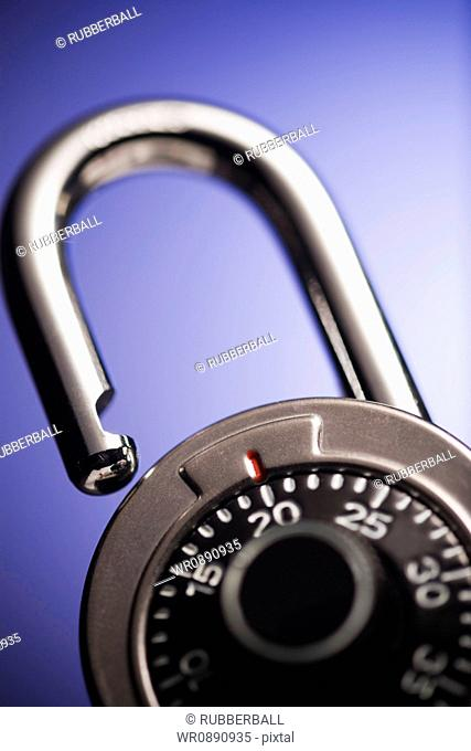 Close-up of a combination lock