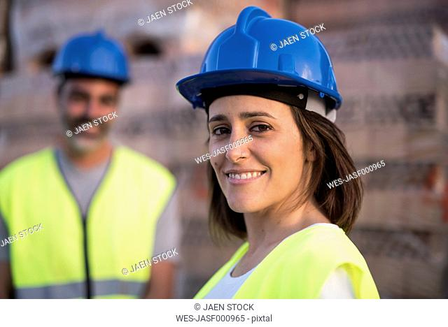 Construction workers at construction company