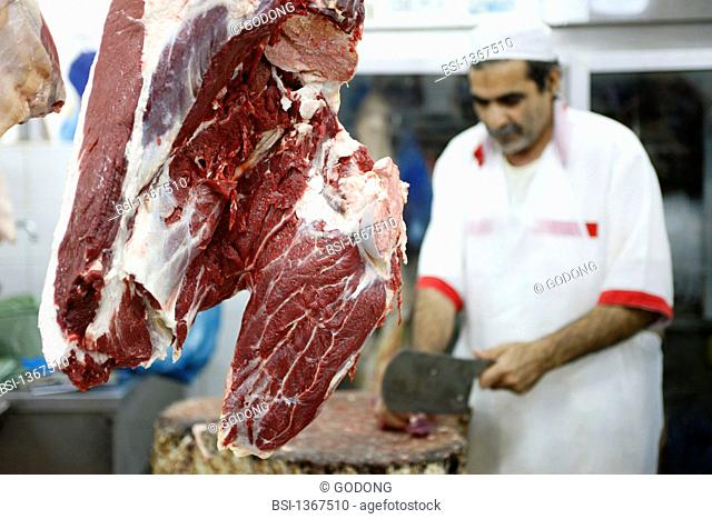 Butcher dubai meat Stock Photos and Images | age fotostock