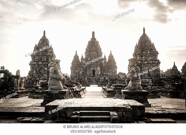 Entrance of Sewu Temple in Prambanan Hindu Temple Coumpounds (UNESCO World Heritage Site), Special Region of Yogyakarta,Central Java, Indonesia