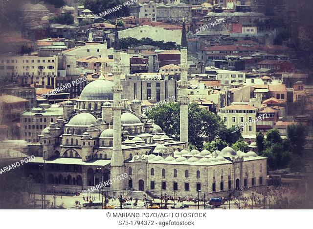 The Yeni Camii, The New Mosque or Mosque of the Valide Sultan Istanbul, Turkey