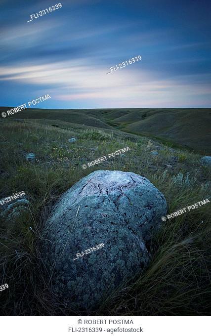 Long Exposure Of The Sky In Grasslands National Park;Saskatchewan Canada