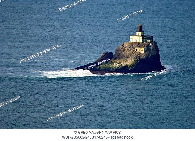 """Tillamook Rock Lighthouse, also known as """"Terrible Tilly"""", first lit in 1881; Ecola State Park, northern Oregon coast"""