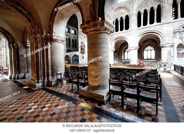 England, London, West Smithfield, Sant Bartholomew The Great, Church, Nave