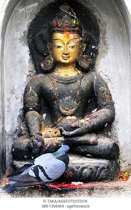 Budha at Swayambhunath temple