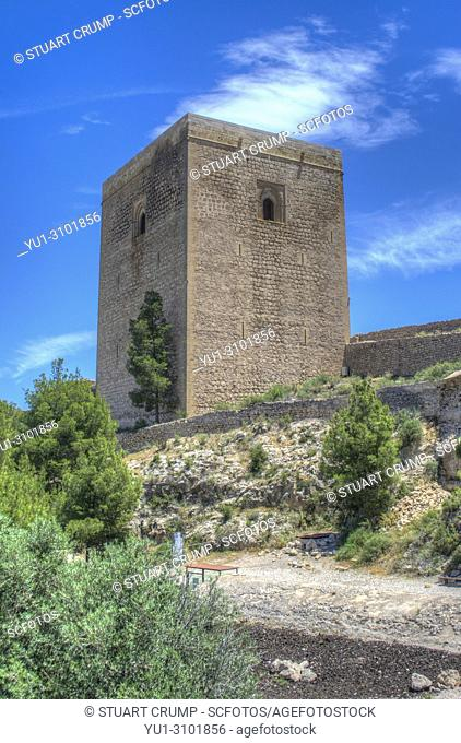 HDR image of the Alfonsina Tower at Lorca Castle Murcia Spain