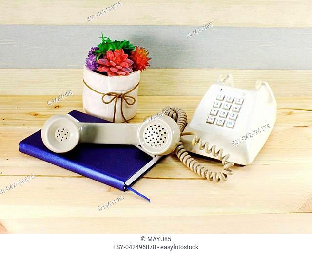 retro telephone home decor interior