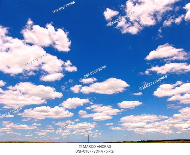 white clouds sky