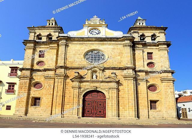 San Pedro Claver Church Old City Cartagena Colombia SA South America Caribbean