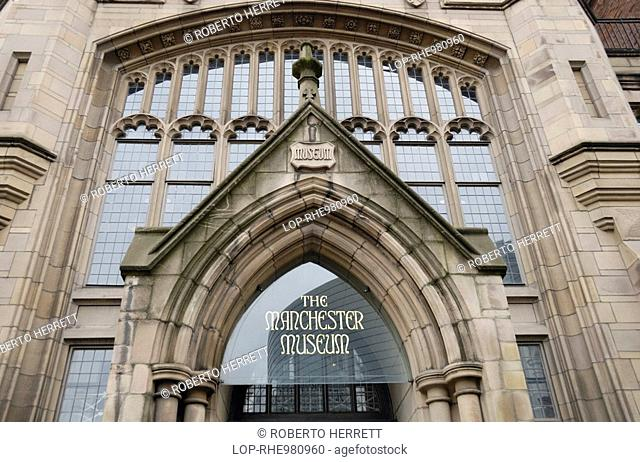 England, Greater Manchester, Manchester, The Manchester Museum in Oxford Road, first opened to the public in 1890