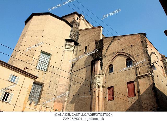 Bologna Emilia Romagna Italy. San Petronio cathedral