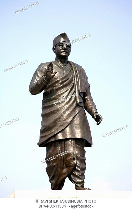 Statue of national leader and freedom fighter Netaji Subhash Chandra Bose ; Salt lake ; Calcutta now Kolkata ; West Bengal ; India