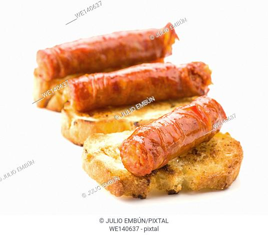 typical Spanish red sausage