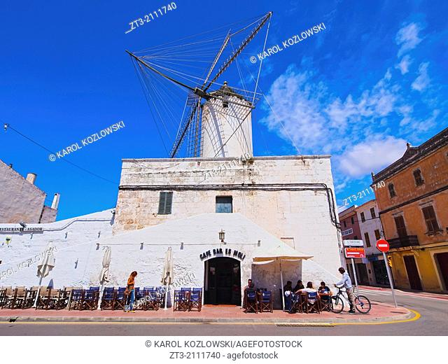 Moli des Comte - Old Windmill in Ciutadella on Menorca, Balearic Islands, Spain