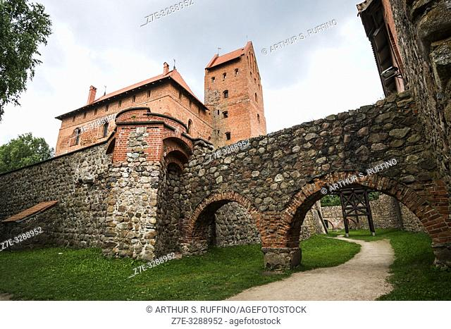 Trakai Island Castle, Lake Galve, Trakai, Lithuania, Baltic States, Europe