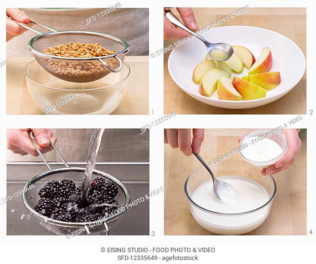 How to make spelt and fruit muesli