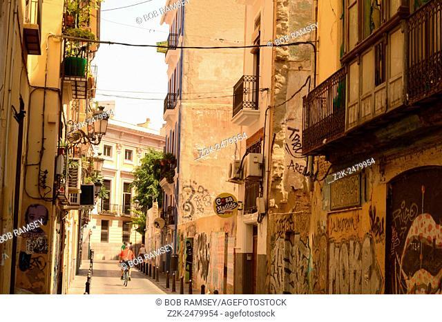Street view in Valencia, Spain