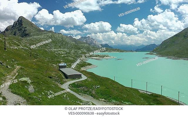 Lago Bianco at Bernina Pass, Switzerland, Schweiz