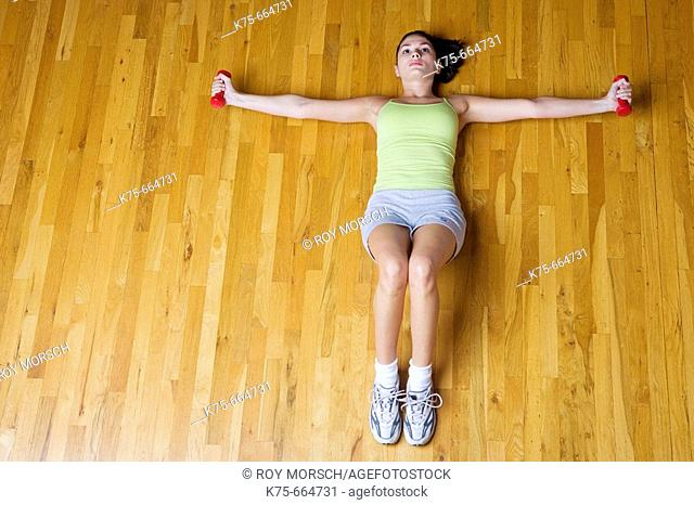floor exercise with weights