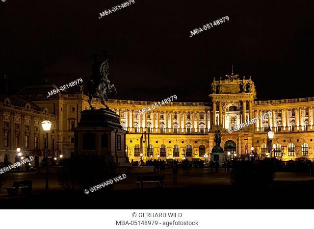 Austria, Vienna, Heldenplatz, Hofburg