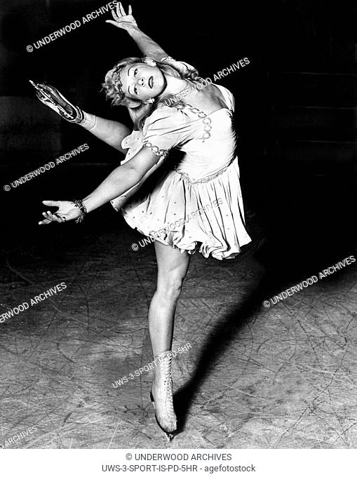 California: August 12, 1942.Belita, the Blond Ballerina of the Rinks, is the star of ice shows where ever she appears