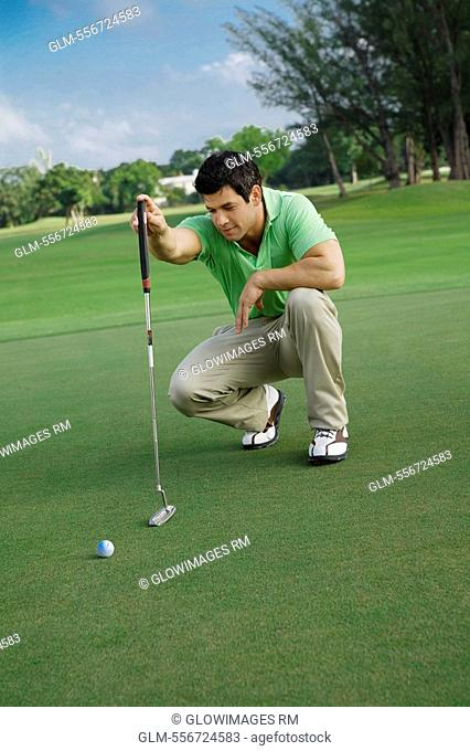 Golfer playing golf in a golf course, Biltmore Golf Course, Coral Gables, Florida, USA