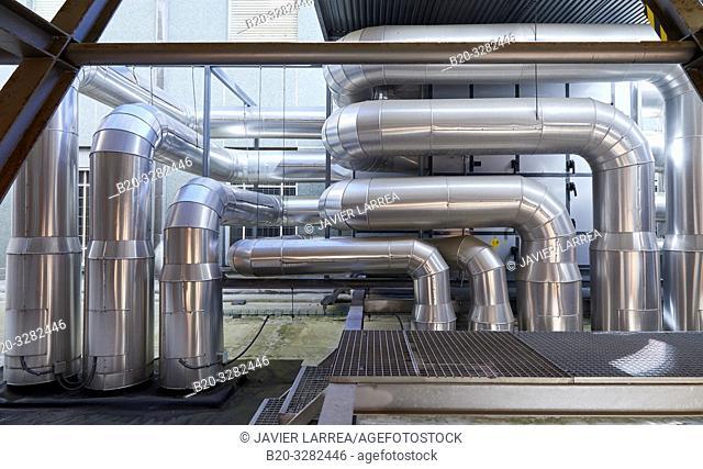 Air conditioning installation, Hospital Donostia, San Sebastian, Gipuzkoa, Basque Country, Spain
