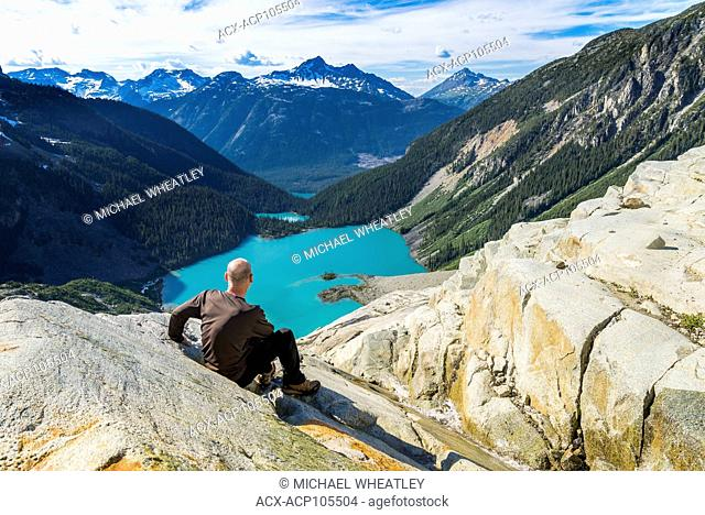View of all 3 Joffre Lakes from Matier Glacier edge, Joffre Lakes Provincial Park, British Columbia, Canada (self released)