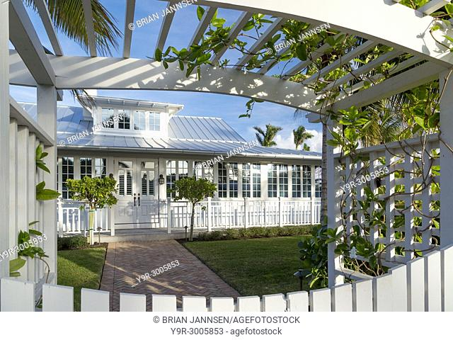 'Bones Cottage' (b. 1921), one of the historic cottages of old Naples, Florida, USA