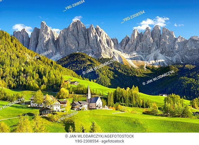 Santa Maddalena, Val Di Funes, Dolomites, Italy