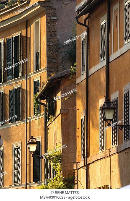 Italy, Rome, Trastevere, house-facades