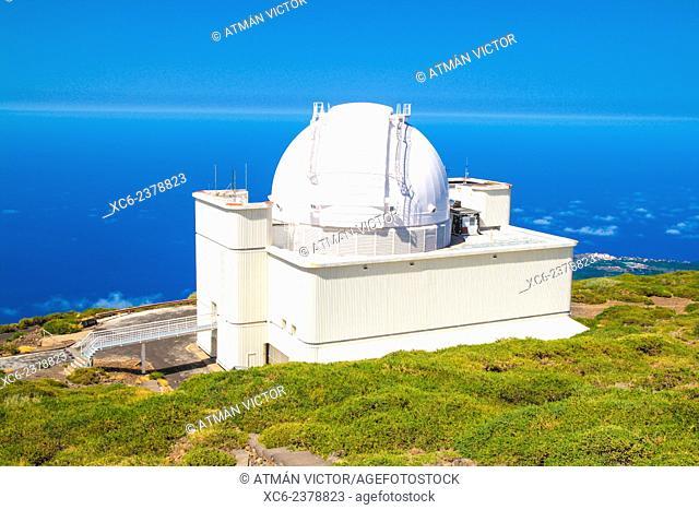 observatory of Roque de Los Muchachos . La Palma island . Canary islands . Spain