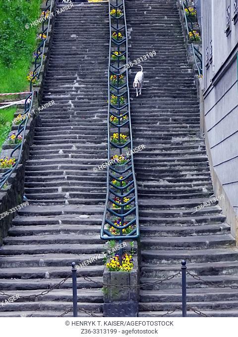 Steps in Podgorze, Krakow, Poland
