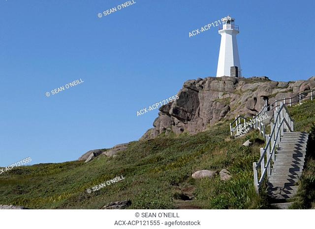 Cape Spears lighthouse and stairs, Cape Spear Lighthouse National Historic Site, Newfoundland, Canada