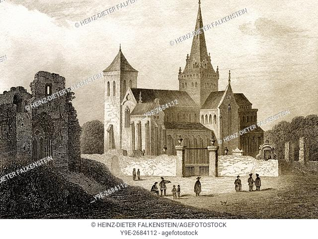 Glasgow Cathedral, or High Kirk of Glasgow or St Kentigern's or St Mungo's Cathedral, Glasgow, Scotland, 19th century