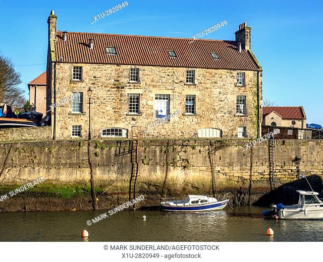 The Harbourmasters House Fife Coast and Countryside Trust HQ and Visitor Centre at Dysart Fife Scotland