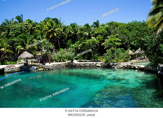 Xcaret beach in Mexico